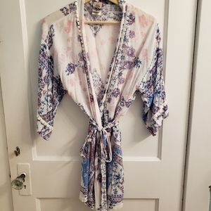 In Bloom by Jonquil Country Blue Wrapper Robe